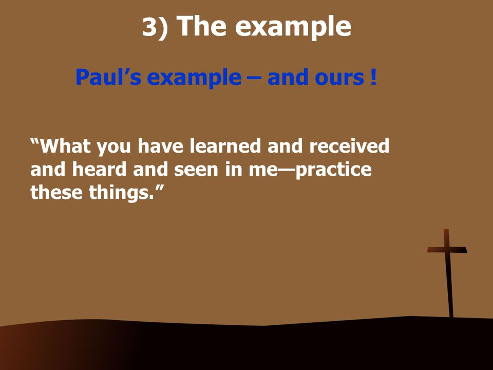3) The example Paul's example – and ours .