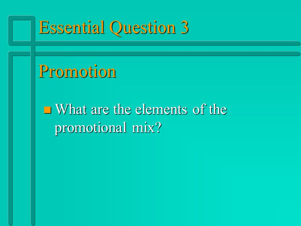 Types of Promotion n n Personal Selling: Oral presentations to one or more potential buyers with the intent of making a sale.
