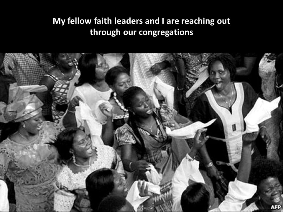 My fellow faith leaders and I are reaching out through our congregations