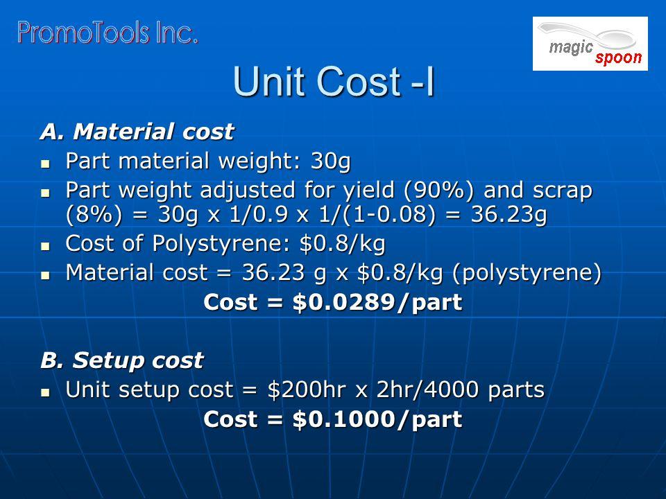 Unit Cost -I A.