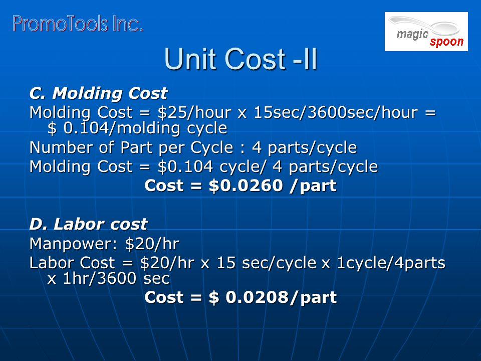 Unit Cost -II C.