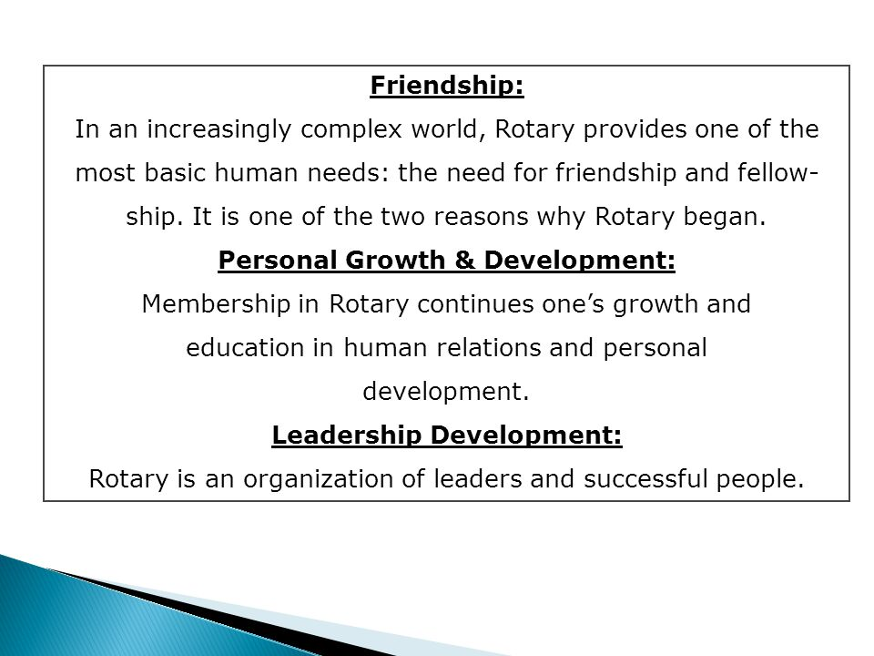 Rotary is open to all professional persons.