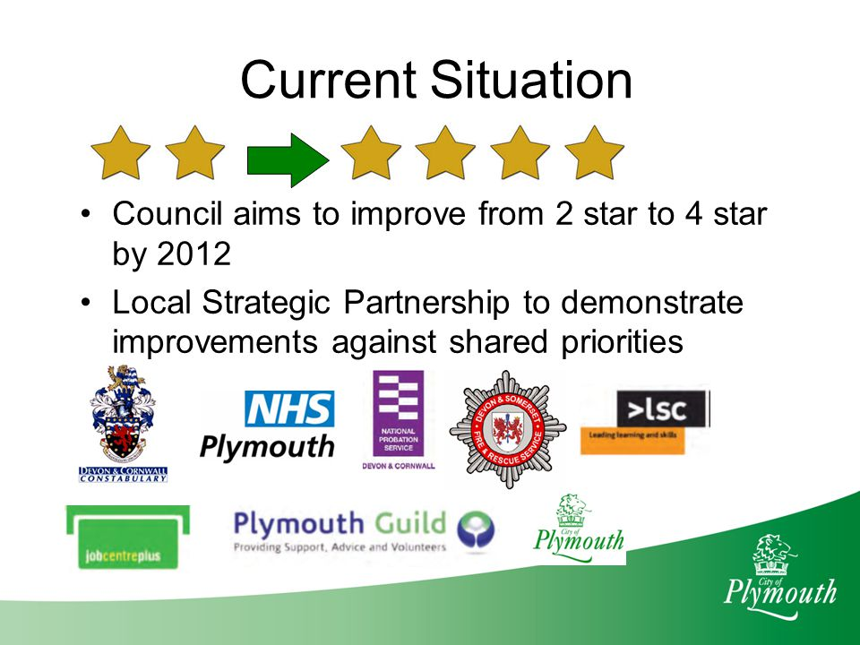 Expected Wider Outcomes Strategic and Operational evidence based decision making will improve service delivery Enhancement of the reputation of the Council and the LSP Provides the public with a means of holding public sector organisations to account