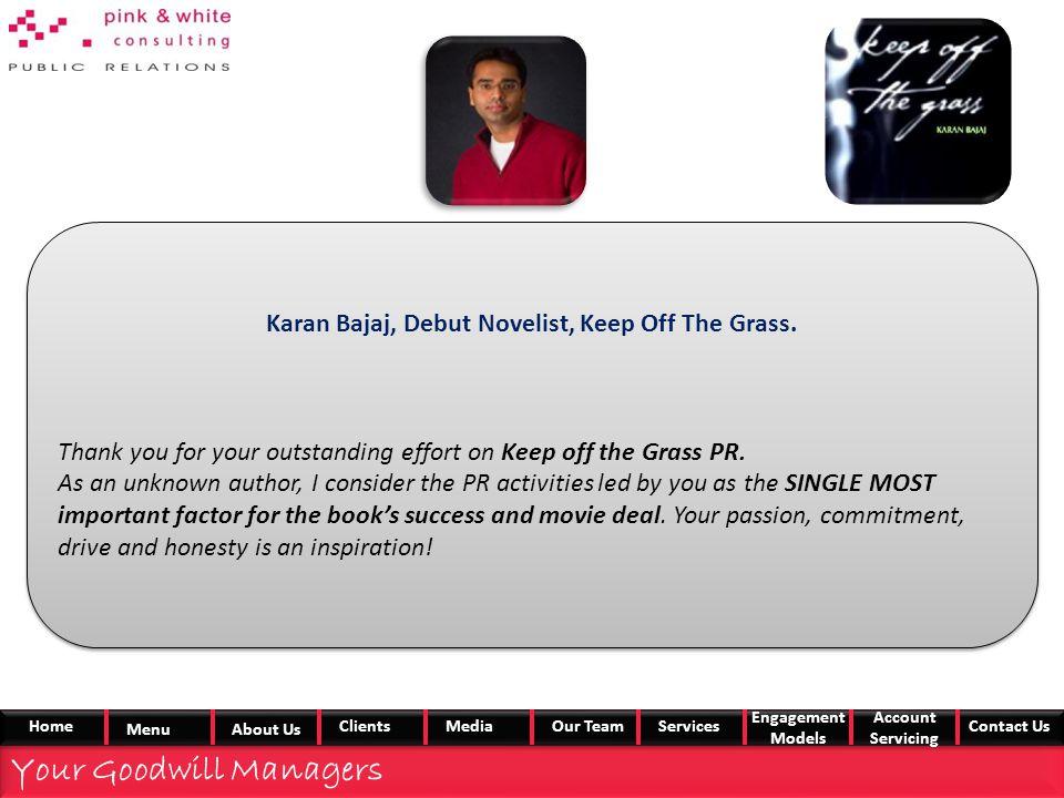 Karan Bajaj, Debut Novelist, Keep Off The Grass.
