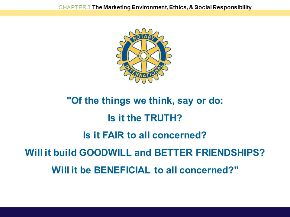 CHAPTER 3 The Marketing Environment, Ethics, & Social Responsibility