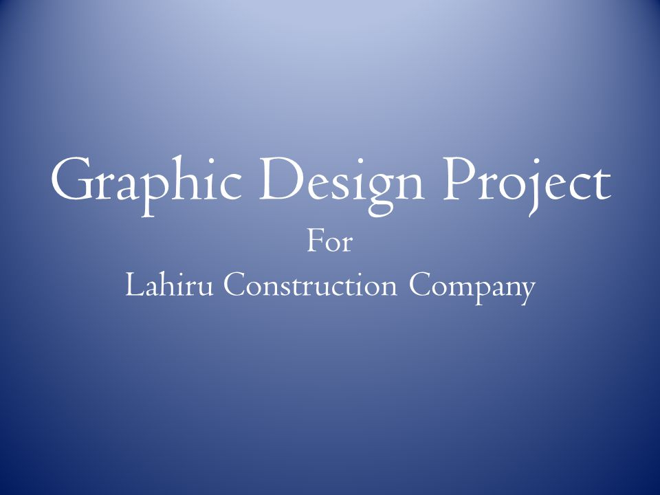 Graphic Design Project For Lahiru Construction Company