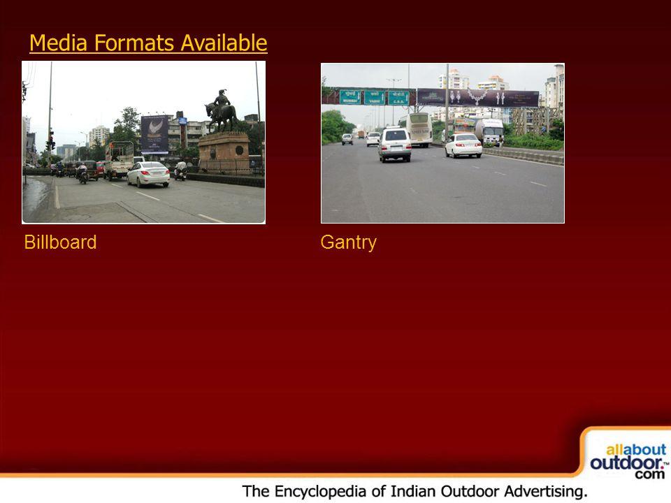 Media Formats Available BillboardGantry