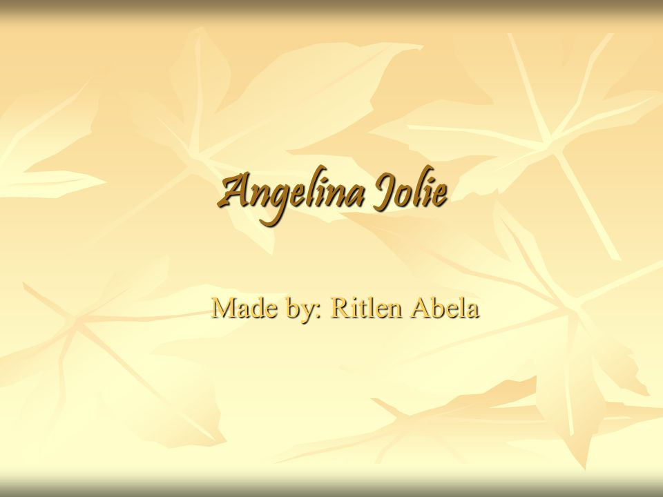 Genral Information Angelina Jolie was born June 4, 1975 in Los Angeles, California, United States.