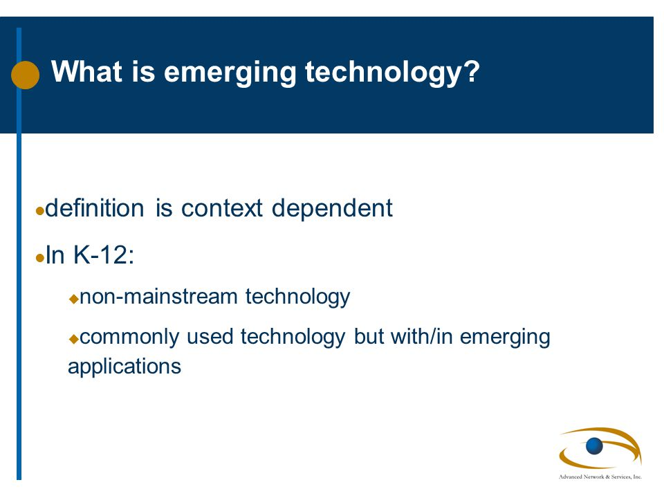 What is emerging technology.