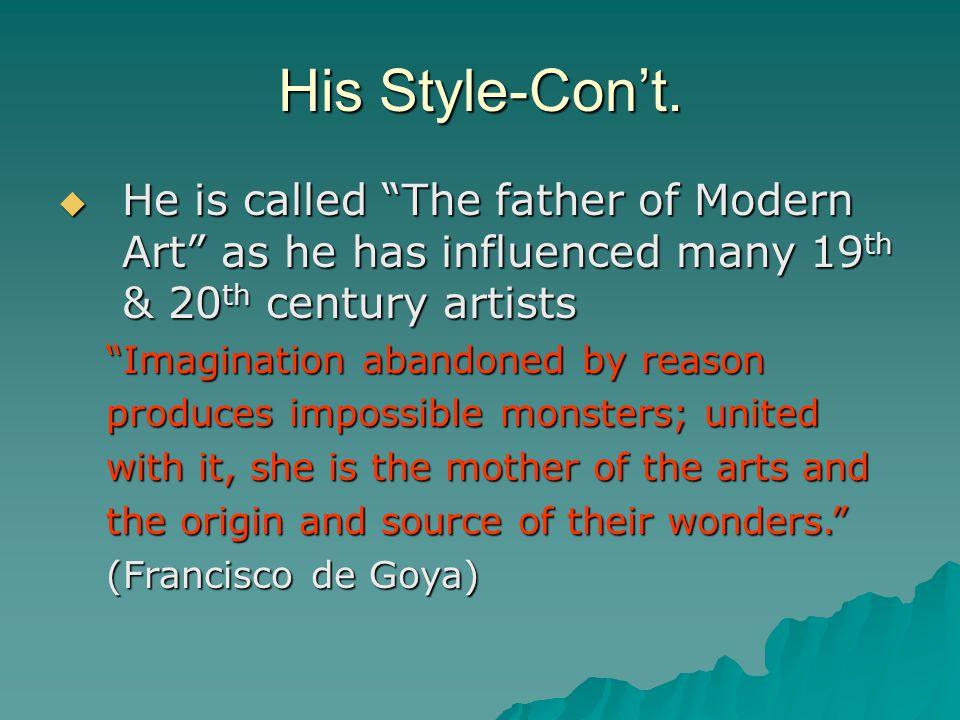 His Style-Con't.