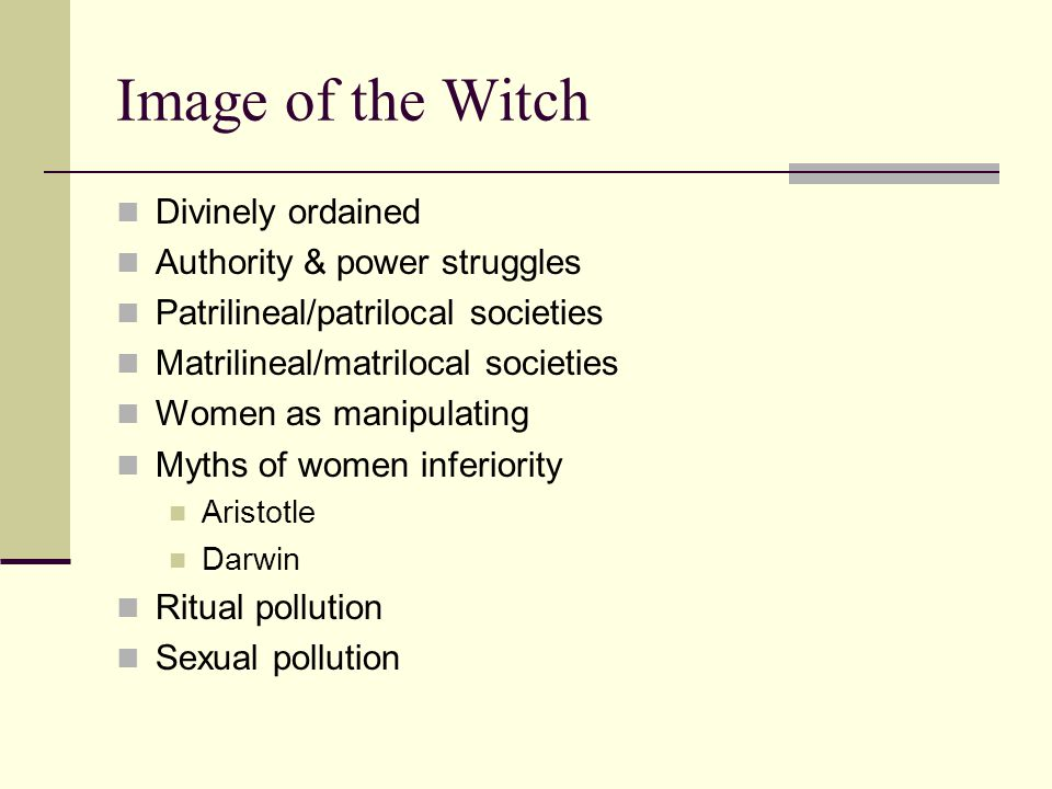 Mobility as a Factor in the Nonexistence or Decline of Witchcraft Beliefs Non-western & small-scaled societies Sedentary agriculturalists Unilineal descent Pastoralists Mobile societies Environment control The church & witchcraft