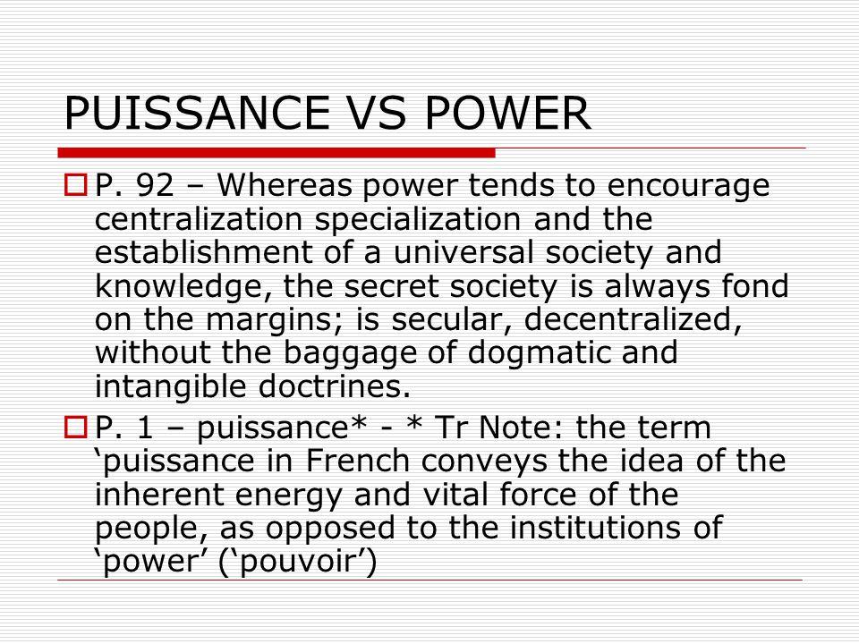 PUISSANCE VS POWER  P.