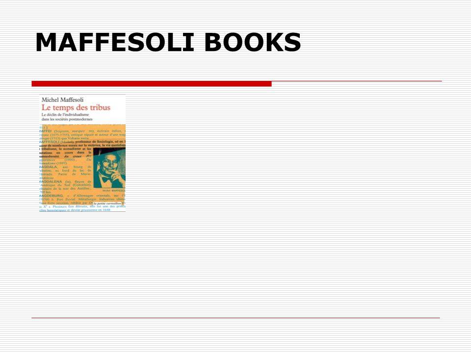 MAFFESOLI BOOKS
