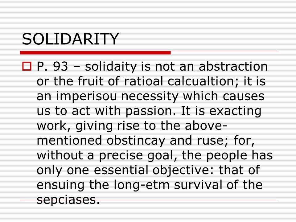 SOLIDARITY  P.