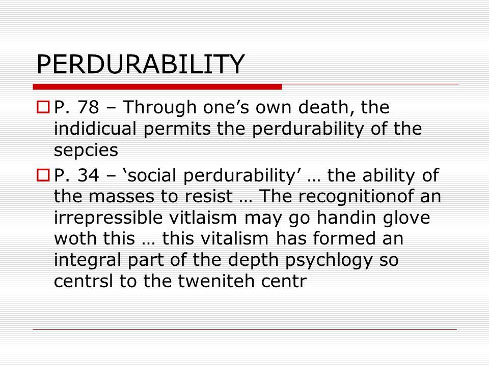 PERDURABILITY  P.