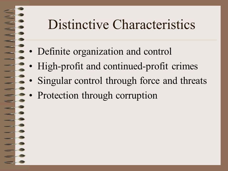 Clearing Up Misconceptions Organized crime is not a single entity controlled by one superpower.