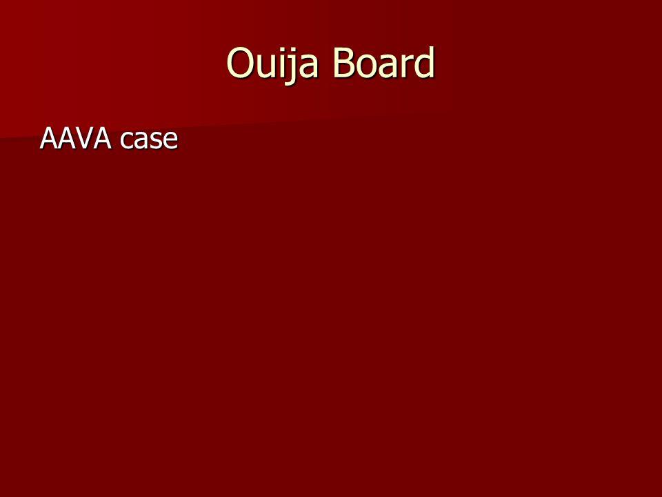 Ouija Board AAVA case