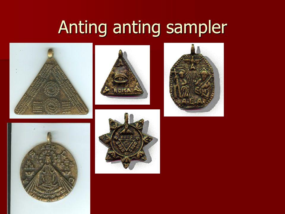 Anting anting sampler