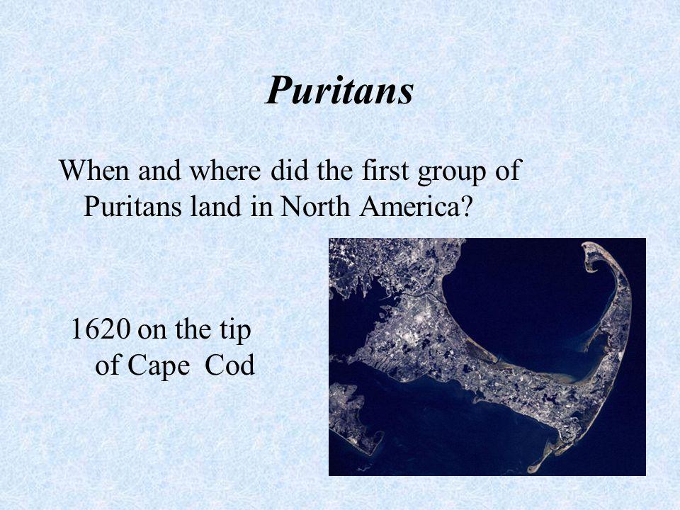 Puritans Define the term Puritan. What were their goals.