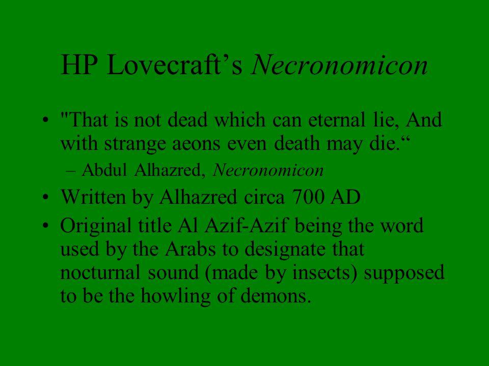 HP Lovecraft's Necronomicon