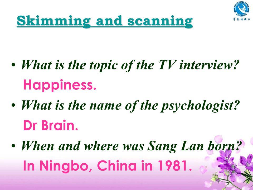 Life as a TV presenter Interview Yao