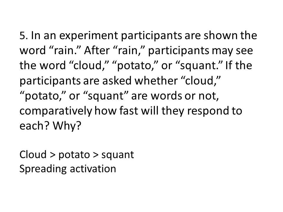 Cloud > potato > squant Spreading activation
