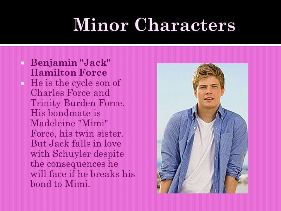  Benjamin Jack Hamilton Force  He is the cycle son of Charles Force and Trinity Burden Force.