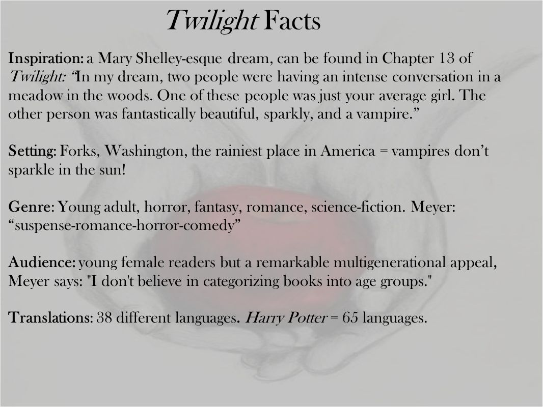Inspiration: a Mary Shelley-esque dream, can be found in Chapter 13 of Twilight: In my dream, two people were having an intense conversation in a meadow in the woods.
