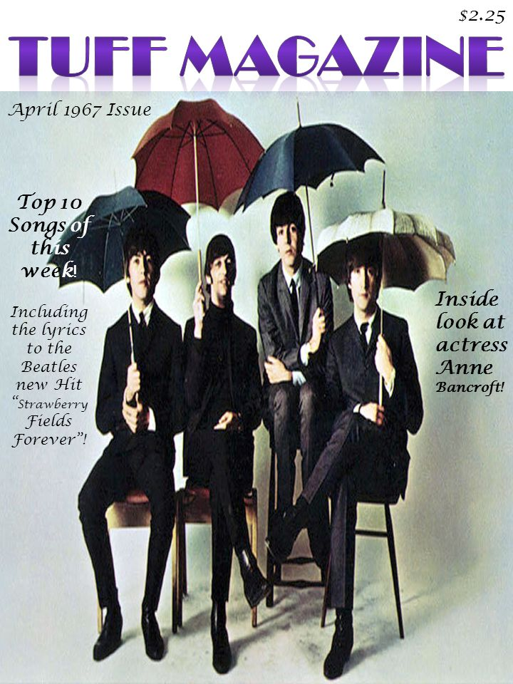 April 1967 Issue $2.25 Top 10 Songs of this week .