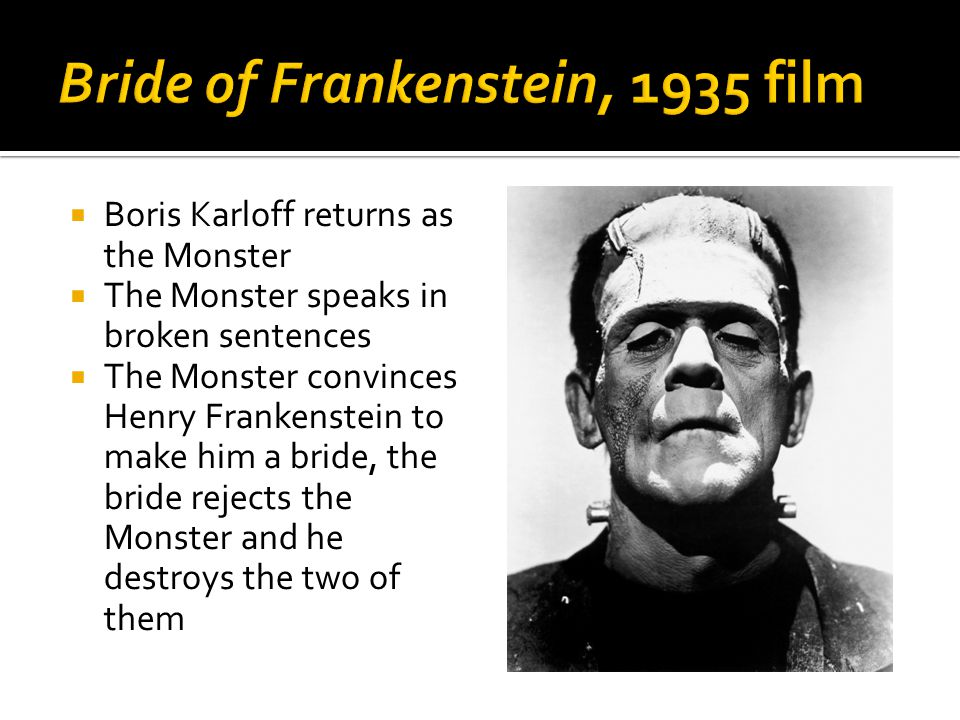  English film that focuses on Baron Victor Frankenstein more than the Monster  Victor assembles the Monster from a corpse found swinging on a gallows and hands and eyes purchased from a charnel house