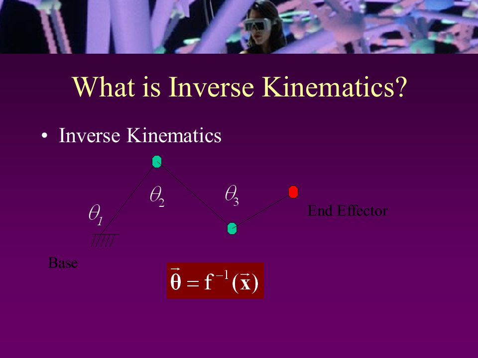What is Inverse Kinematics? Inverse Kinematics Base End Effector