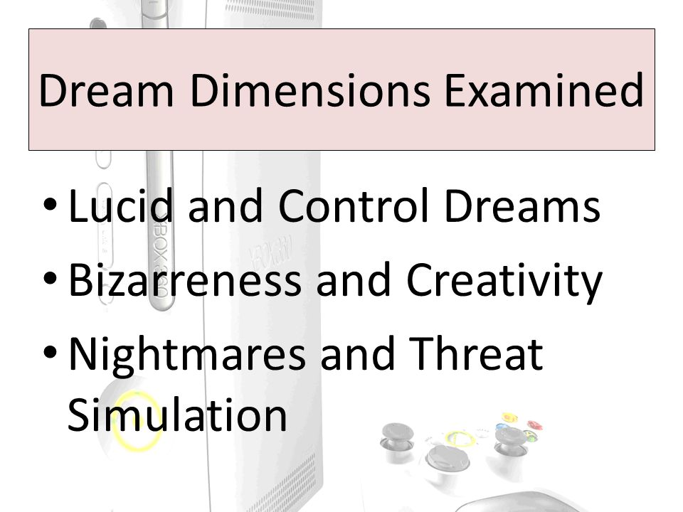 Judge Rated Emotionality (HVDC) Consistent findings with previous research Nightmares had more negative emotions than bad dreams No interaction with gaming group