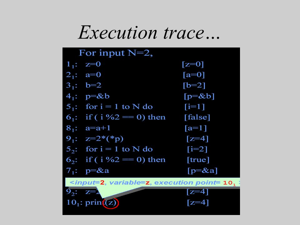 Execution trace…