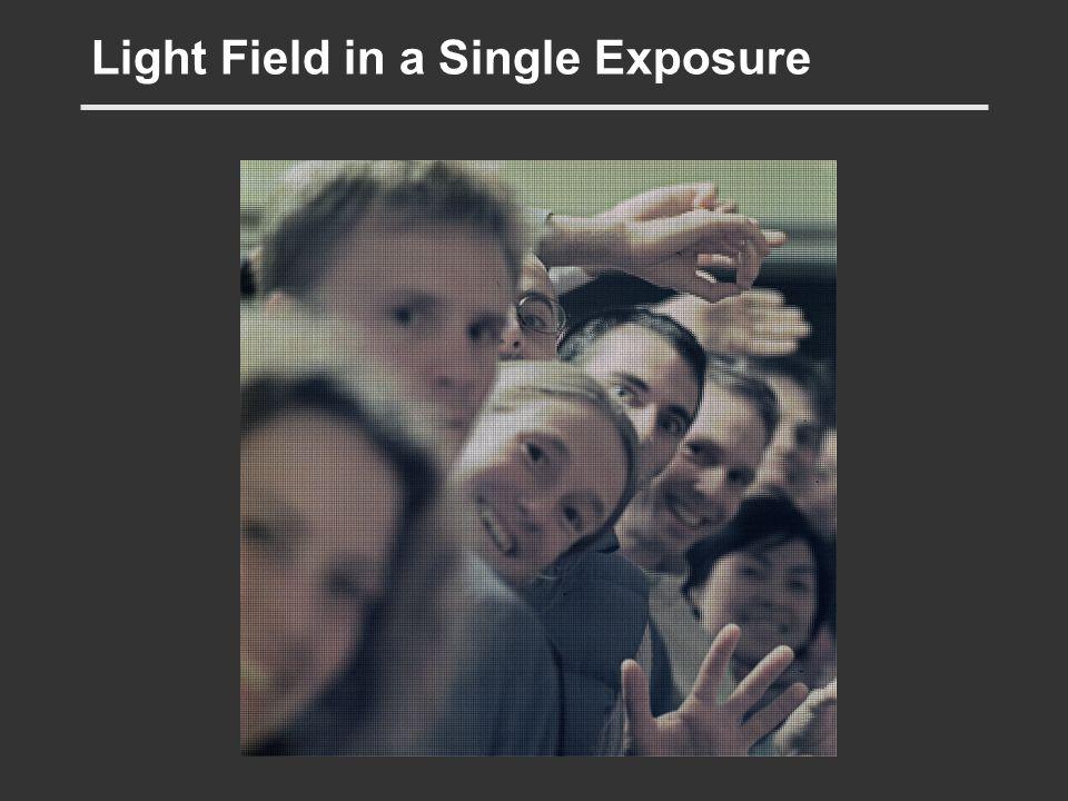 Light Field in a Single Exposure