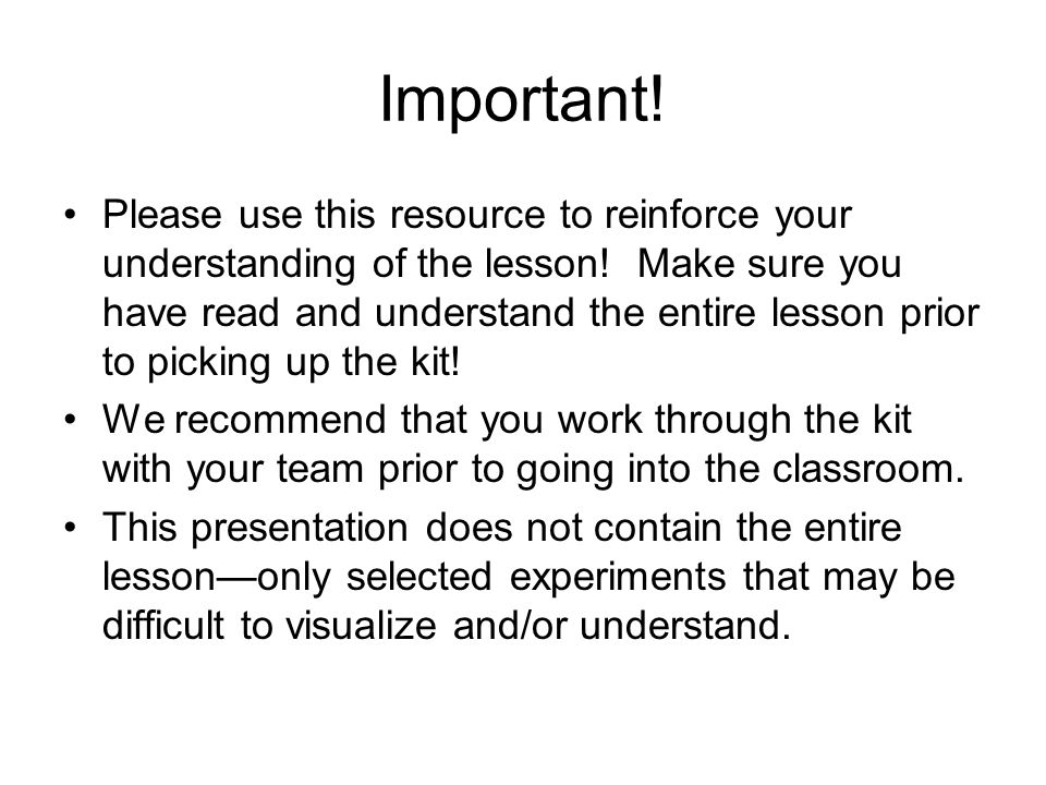 Important. Please use this resource to reinforce your understanding of the lesson.