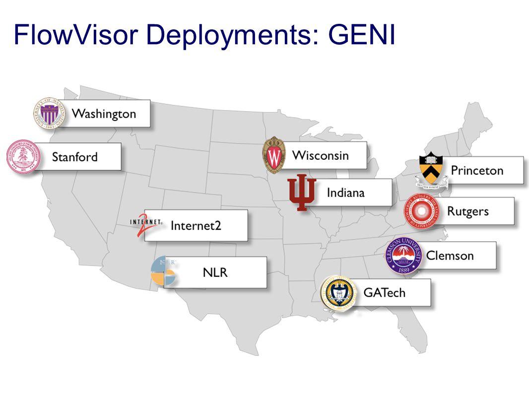 FlowVisor Deployments: GENI