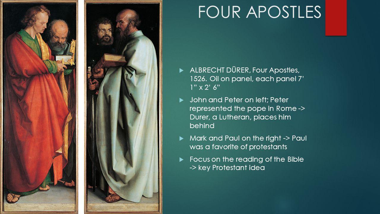 FOUR APOSTLES  ALBRECHT DÜRER, Four Apostles, 1526.