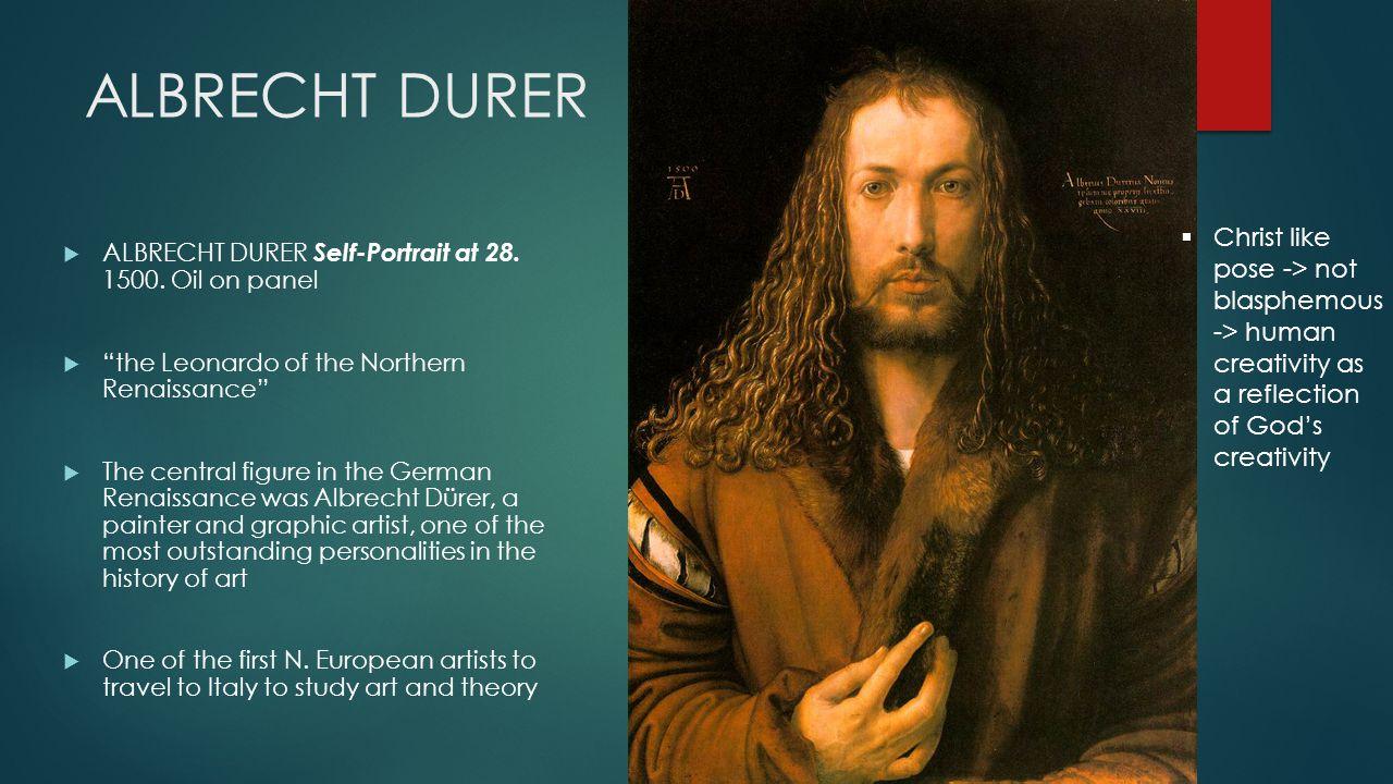 ALBRECHT DURER  ALBRECHT DURER Self-Portrait at 28.