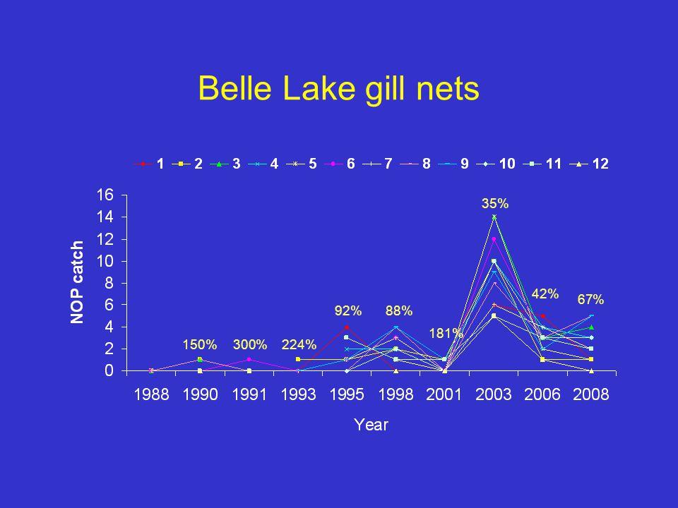 Belle Lake gill nets 150%300%224% 92%88% 181% 35% 42% 67%