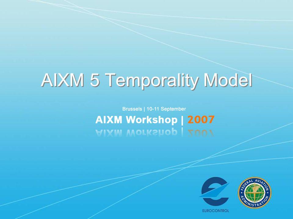 AIXM 5 Temporality Model