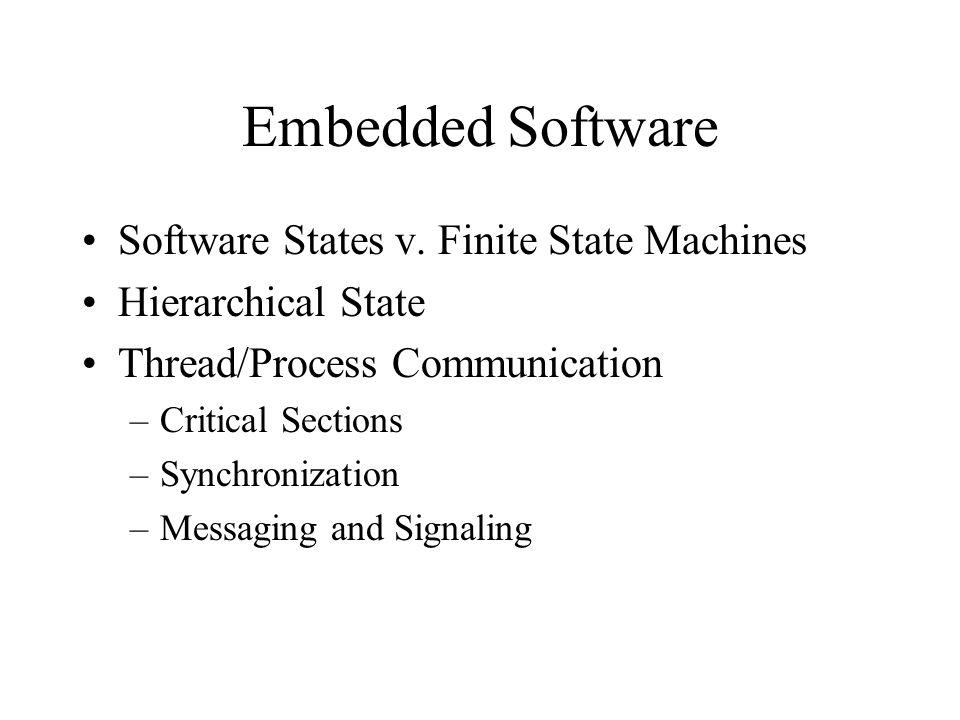Embedded Software Software States v.