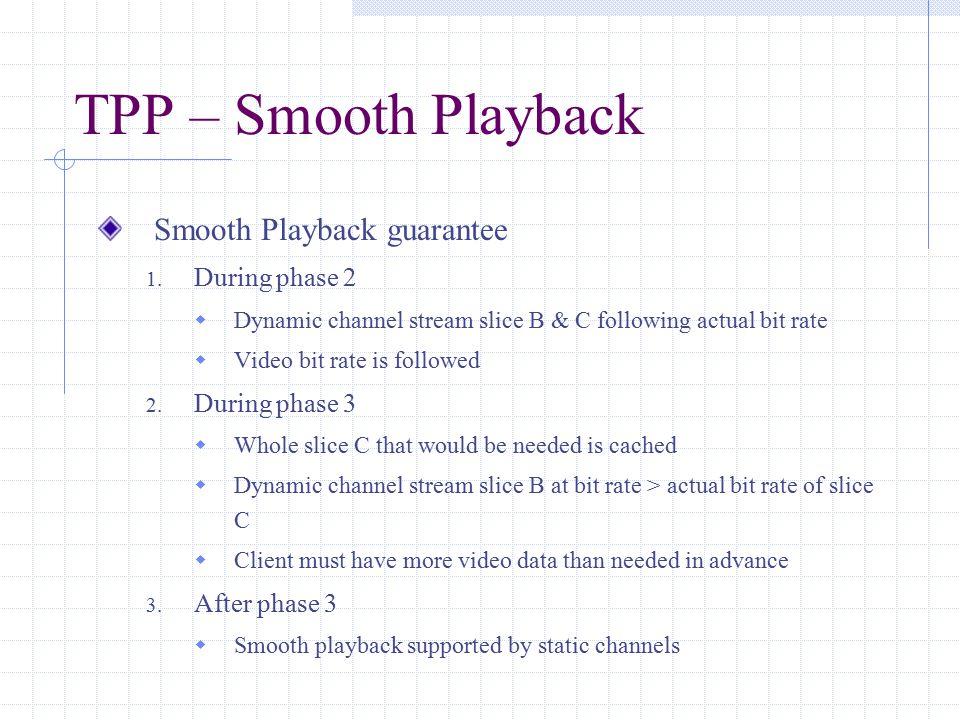 TPP – Smooth Playback Smooth Playback guarantee 1.