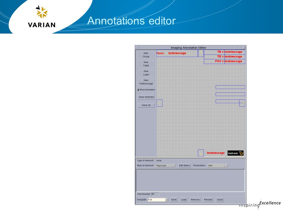 Annotations editor