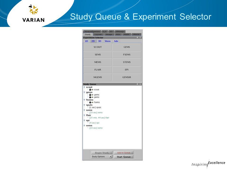 Study Queue & Experiment Selector