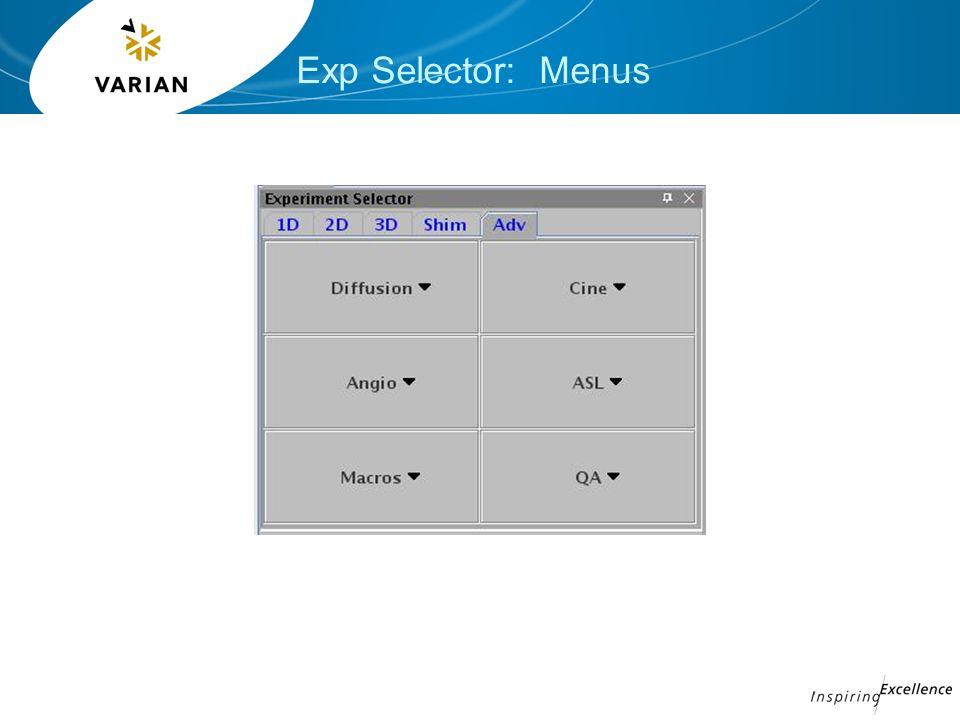 Exp Selector: Menus