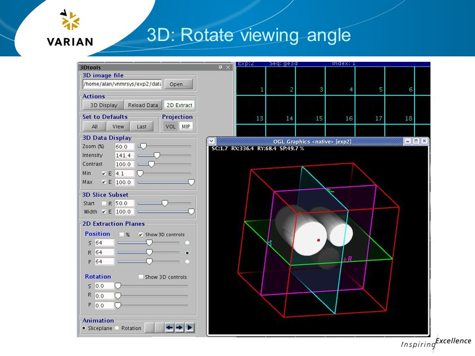 3D: Rotate viewing angle