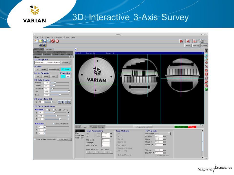 3D: Interactive 3-Axis Survey