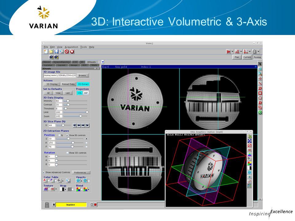 3D: Interactive Volumetric & 3-Axis
