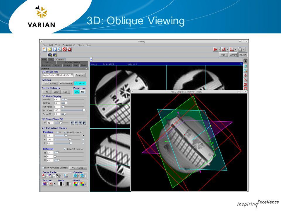 3D: Oblique Viewing