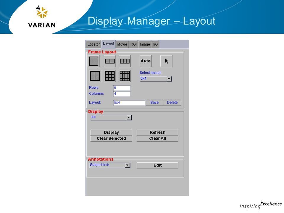 Display Manager – Layout